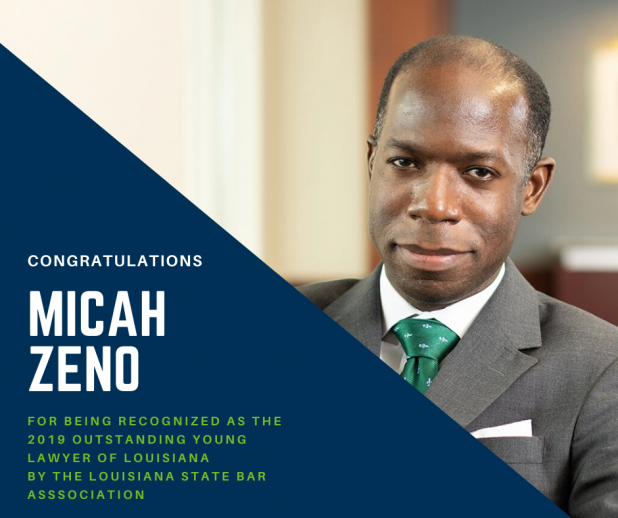 Micah Zeno wins Outstanding Young Lawyer Award