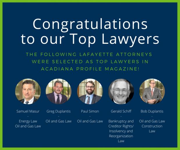 2020 Acadiana Top Lawyers